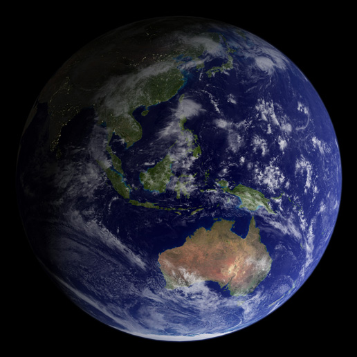 """Another Image of the """"Blue Marble"""" from 2002"""