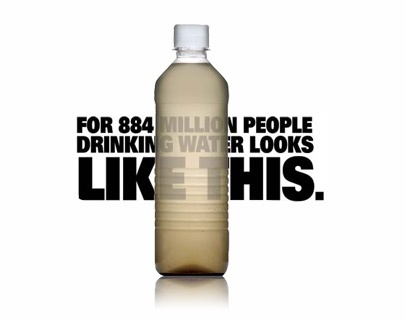 For 884 million people, drinking water looks like this.