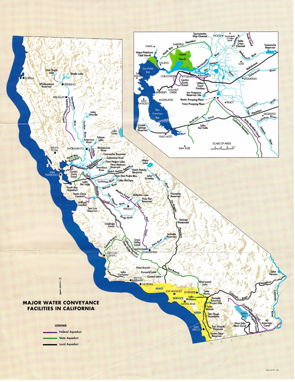 Major water conveyance facilities in California