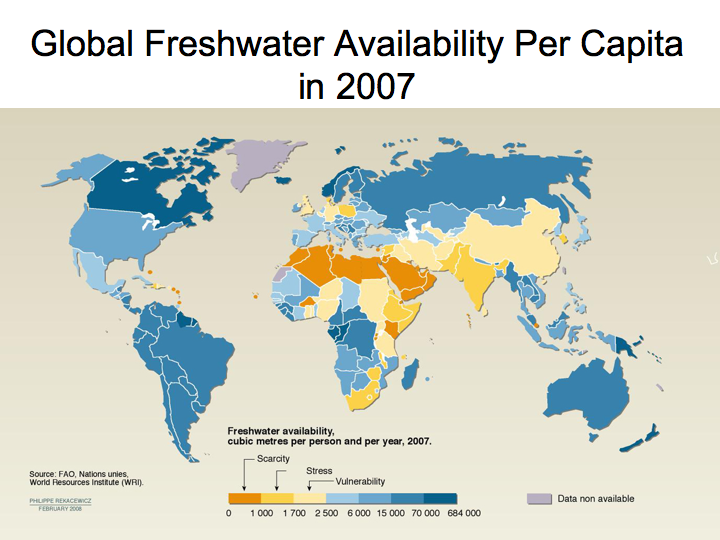 Global Freshwater Availability Per Capita (2007)
