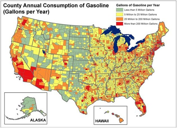 Visualizing Oil Addiction In The US SimCenter WwwWRSCorg - Natural resources map of us