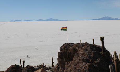The Salar salt flat in Bolivia. Domestic opinion is divided about the exploitati