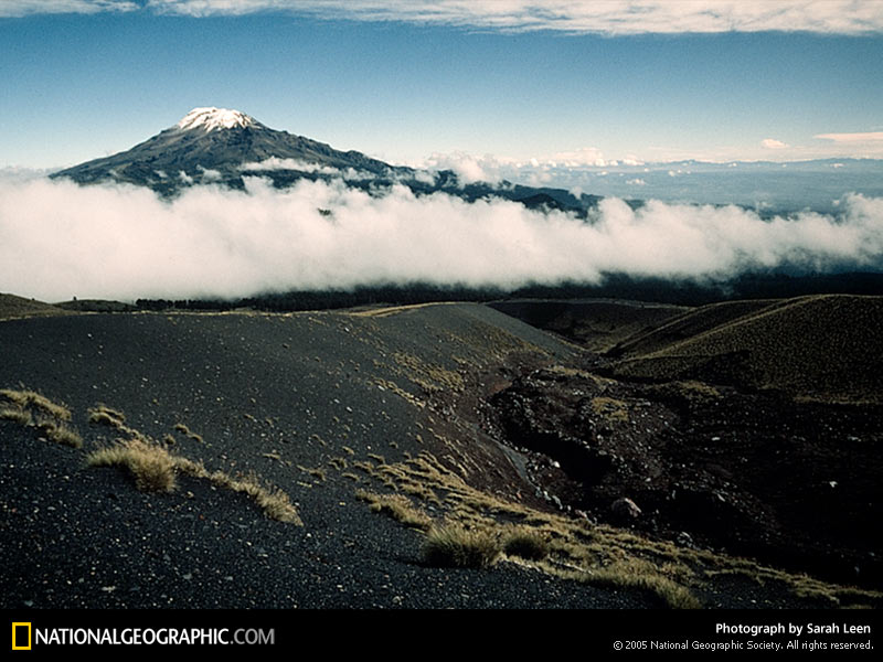 A general view shows the Iztaccihuatl volcano in the city of Puebla, 100 km (62